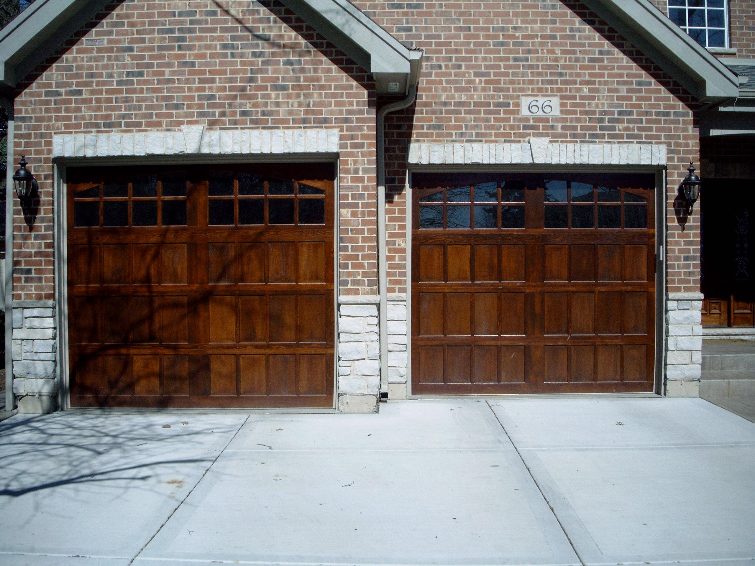 2   10u0027 X 8u0027 Finished Custom Wood Doors